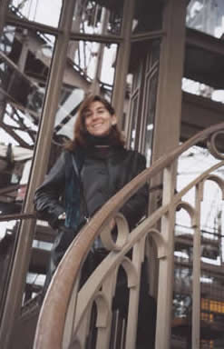 Laura Anne Gilman on stairs